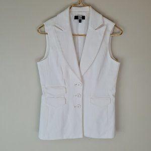 Saks Fifth Avenue White Cotton Vest sz 6